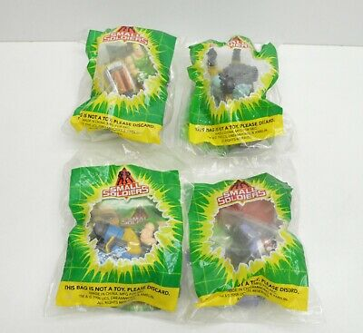Small Soldiers toys figures Burger King Chip Hazard Butch Nick Nitro Lot of 4