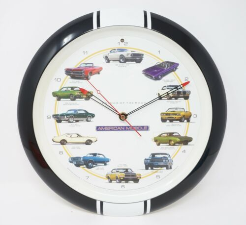 "American Muscle Car ""Legends of the Road"" Wall Clock Hot Rod"