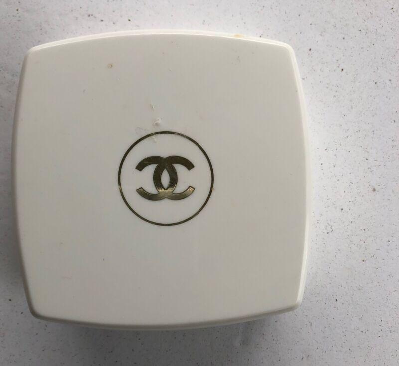 Vintage Chanel No 5 Perfumed Bath Dusting Powder with Puff Empty