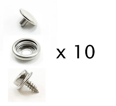 DOT Durable Stainless Steel Cap, Socket and Stud - 10 sets - Marine Hardware