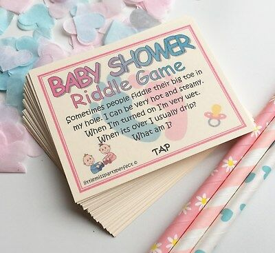 Baby Shower Unisex Riddle Party Games Adult Humour
