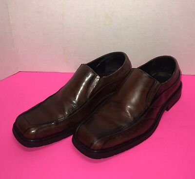Natha Studio Mens Brown Dress Shoes Loafer Slip On Style #27538 - Size 11 ()