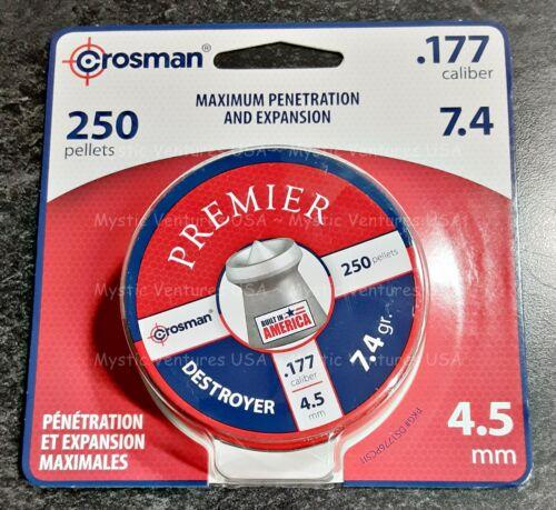 Crosman Premier DESTROYER .177 Caliber 7.4gr. 250 pellets - Quick Ship - DS1776P