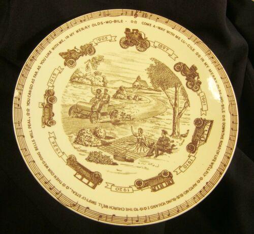 In My Merry Oldsmobile Ceramic Plate Vernon Kilns 1950 Edwards & Bryan FREE Ship