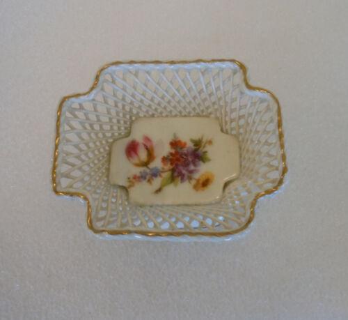 Erphila Floral Open Basket Weave Dish