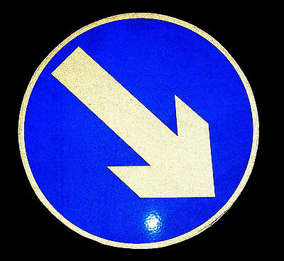 Keep left right direction arrow reflective Magnetic Sign 20cm