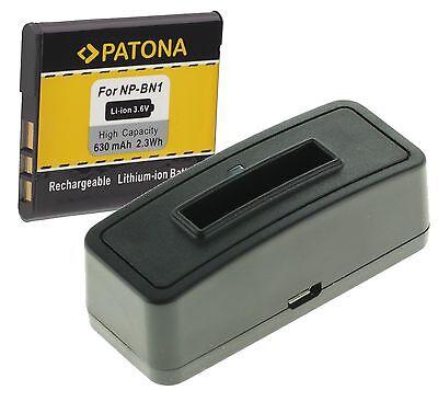USB LADEGERÄT+ PATONA BATTERY AKKU NP-BN1 für Sony Cyber-shot DSC-W510 online kaufen