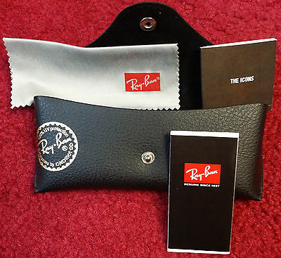 Ray Ban Tech--by Luxottica-- Genuine Soft Leather Sunglasses Case +