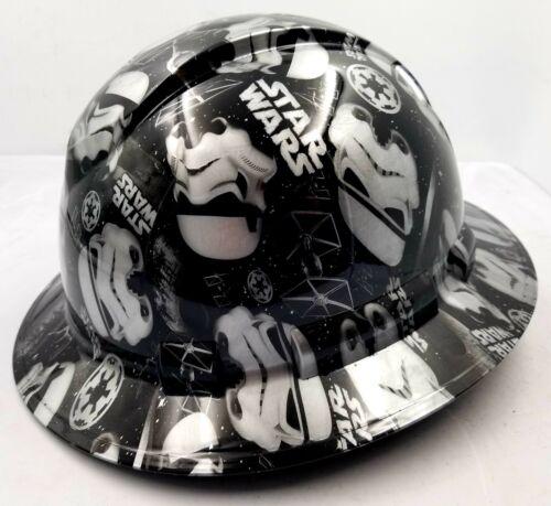 Hard Hat Full Brim STORMTROOPERS Custom hydro dipped full brim DEATH STAR NEW 2