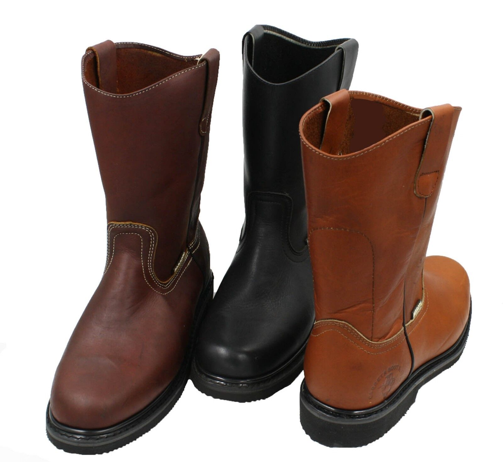 Men's Best Work Boots Pull On Leather oil water slip resistant Size 7-13 1