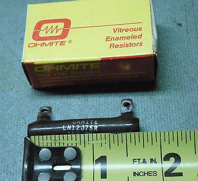 Ohmite 75 Ohm 12w Power Resistor High Wattage Ln12j75r New Usa Wire Wound