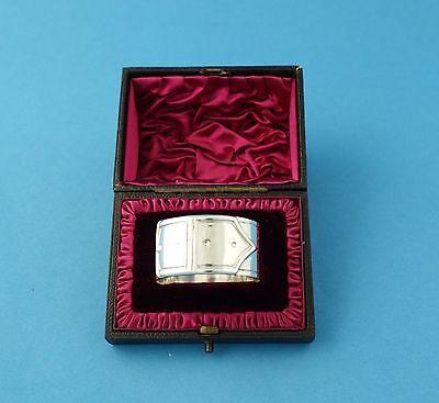 Außergewöhnlicher Serviettenring i. Kasten, 925er Silber - ohne Monogramm