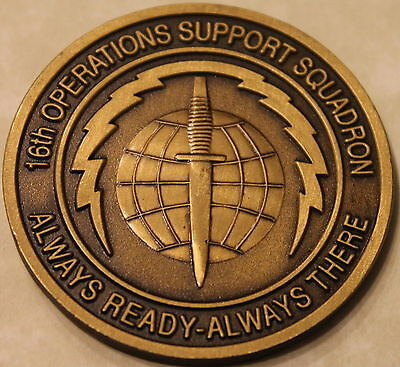 16th Special Ops Wing Operations Support Squadron Air Force Challenge Coin
