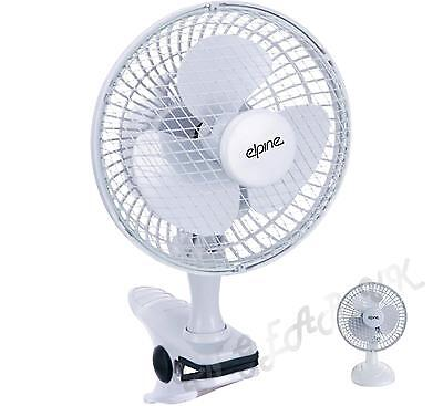 """house hold Fan Cooler 240v mains 6"""" desk clip on clamp stand quiet small mains"""