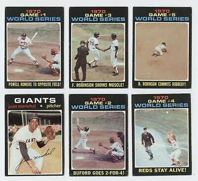 1971 Topps #331 World Series Game #5 in Ex-ExMt condition