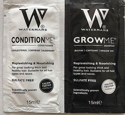 Try before you buy - Watermans Grow Me Shampoo and Conditioner