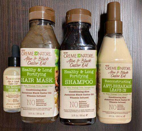 CREME OF NATURE PURE Aloe & Black Castor Oil Shampoo Leaven-