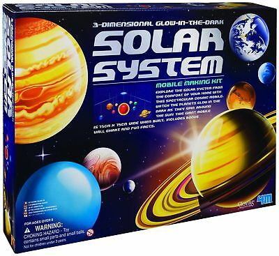 3 D Glow In The Dark Solar System Planets Stars Astronomy Hanging Toy Mobile New