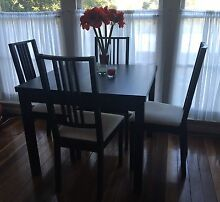 BJURSTA Extendable table + 4 Chairs Greenwich Lane Cove Area Preview