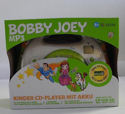 Kinder CD-Player Bobby Joey-CD X4-Tech, mit Accu+Ladegerät, Mikro, USB  OVP NEU ()