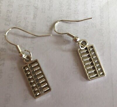Abacus Charm Earrings,learning Teaching Math Counting Unique Calculator Educatio