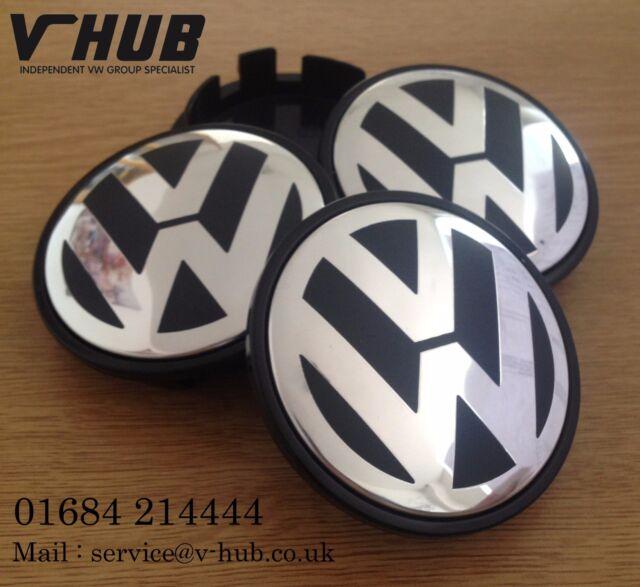 VW Alloy Wheel Centre Caps x4 65mm Golf MK5