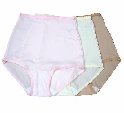 Shadowline Women's Nylon Spandex Brief Panty 3-Pak 17005 (Womens Nylon Spandex Panties)