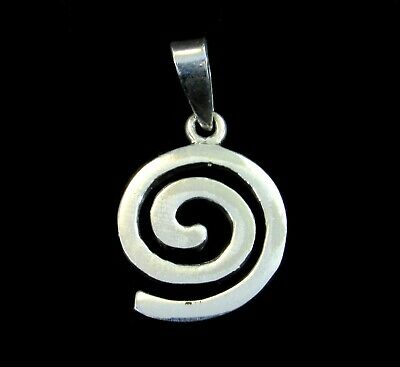 Solid 925 Sterling Silver Celtic Irish Gaelic Swirl/Spiral Knot Pendant Charm Celtic Swirl Pendant