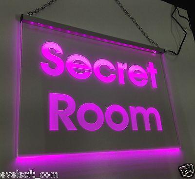 """Ihr LED faunz Leuchtschild, LED Hinweisschild - Werbeschild """" Secret Room """"©"""