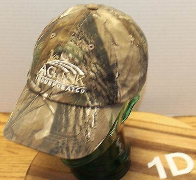 AG LINK INCORPORATED HAT STRAPBACK ADJUSTABLE HUNTING CAMO PATTERN VGC 1D