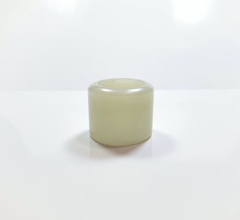 Chinese Antique Jade Banzhi Ring Archers Thumb Ring Hand Carved
