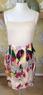 Hoss Intropia Silk Summer Dress Size 40 UK 12