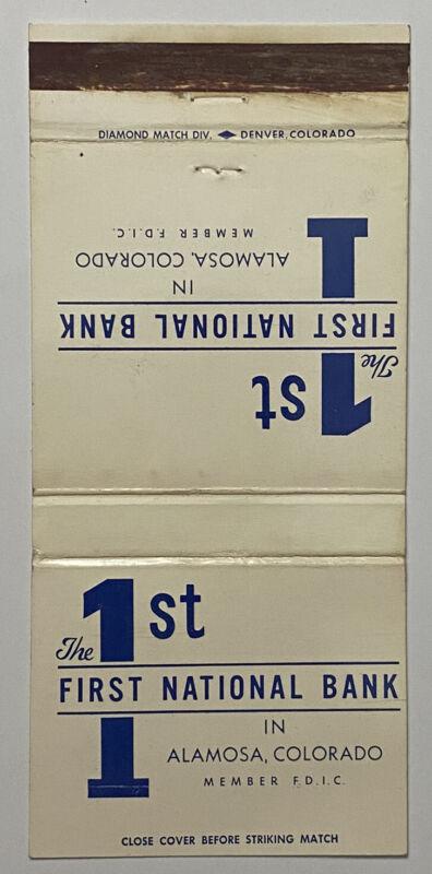 Vintage 30 Strike 1st National Bank Matchbook Cover Ad Alamosa, Colorado a0700