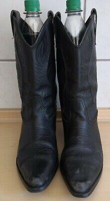 Cowboystiefel, Westernstiefel, Cowgirl, Damen, Herren, Gr. 41, schwarz, - Schwarze Cowboy Stiefel