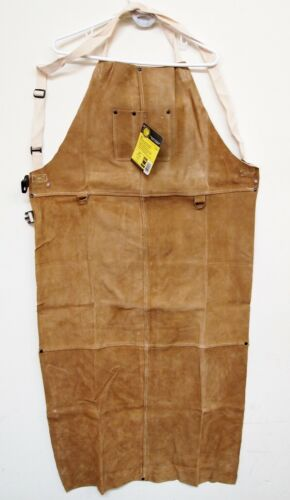 REVCO BLACK STALLION Leather Welding Bib Apron 48A, made with DUPONT KEVLAR