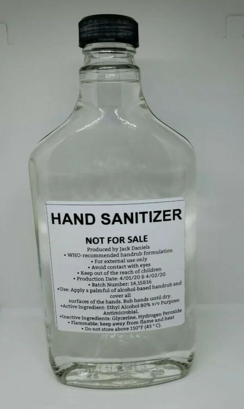 Rare Jack Daniels 375ml  Sanitizer Bottle - Never Sold To Public
