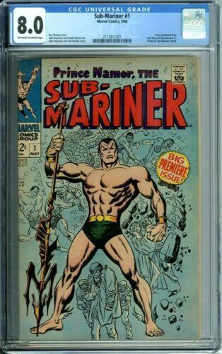 SUB-MARINER 1 CGC 8.0 ORIGIN RE-TOLD NEW CGC CASE Marvel Comics Silver Age 1968