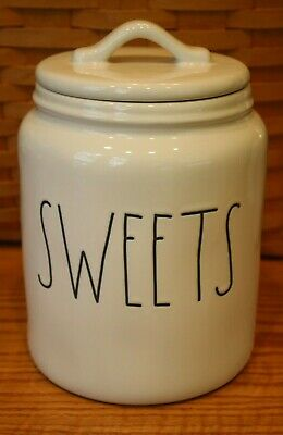 "NEW RAE DUNN MAGENTA 7"" SWEETS CANISTER LL GIFT BIRTHDAY HALLOWEEN THANKSGIVING"