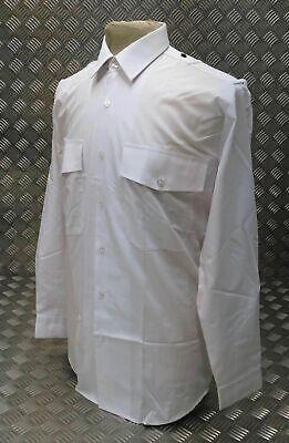 Británico Auténtico Constabulary Camiseta Blanca Viejo Bill / Bobby Manga Larga