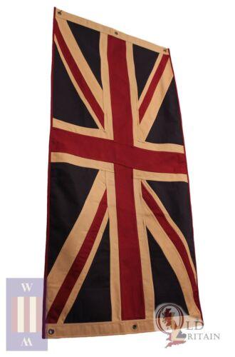 Large Vintage Union Jack Eco Flag   Heavy Duty   76 x 151 cm Tea Stained Cotton
