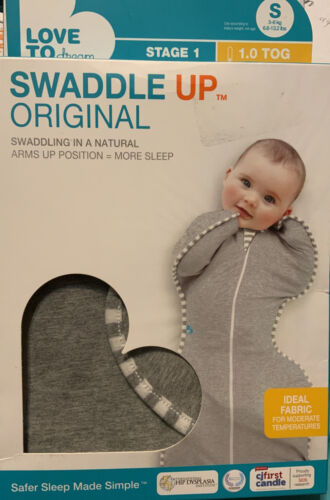 *NEW* Love To Dream Swaddle UP Original 1.0 TOG Gray Small ~