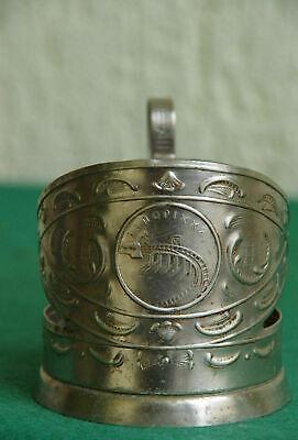 Vintage Russian Soviet Cup Holder Mel'khior Podstakannik Tea Glass Holder USSR