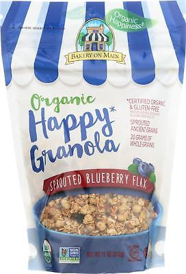 Bakery On Main-SPROUTED BLUEBERRY FLAX ORGANIC HAPPY GRANOLA, Pack of 6 ( 11 ... Blueberry Flax Granola