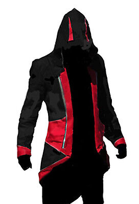 Assassin's Creed 3 Conner Kenway Hoodie Jacket Coat Cloak Costume Cosplay XL](Assassins Creed Conner Costume)