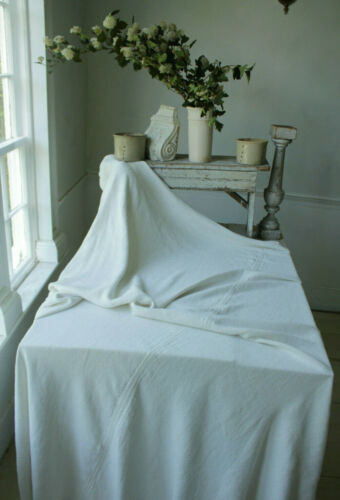 Beautiful soft linen European sheet 18th Century FL monogram heirloom textile
