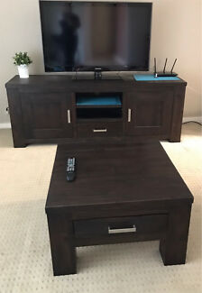 Harvey Norman Tv entertainment unit/ cabinet and coffee table