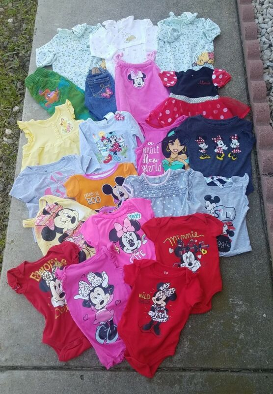 Baby Girl Clothes Lot Of 20  Pieces Sizes  0 Months-2 All Used