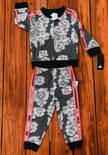 NWT Adidas Tracksuit Girls Sz 6X  Pink 2 Piece Set MSRP $54