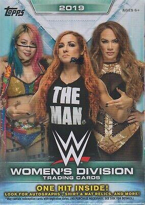 2019 Topps WWE WOMEN'S DIVISION Wrestling Trading Cards 71c Retail BLASTER Box