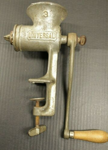 Manual Hand Crank Metal Meat Grinder Universal Food Chopper No 3